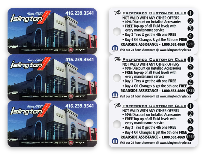 High quality printed plastic keytags.