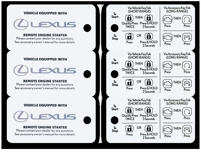 High quality printed plastic key tags.