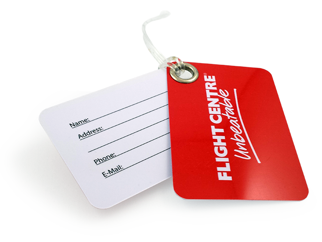 High quality printed plastic bag tags.
