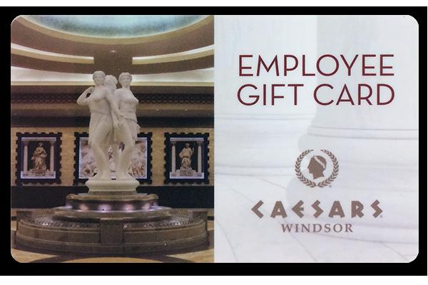 Caesars Casino Windsor printed plastic cards.