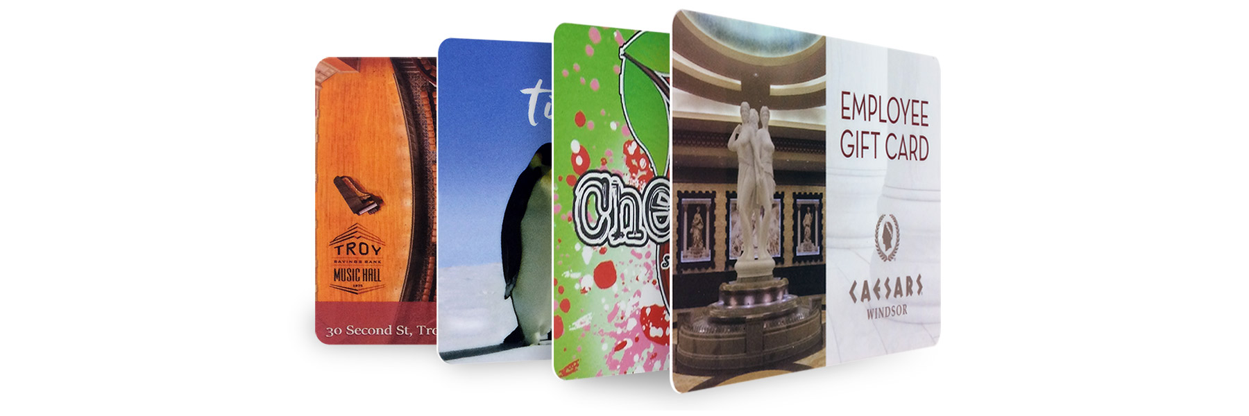 Examples of printed plastic cards.
