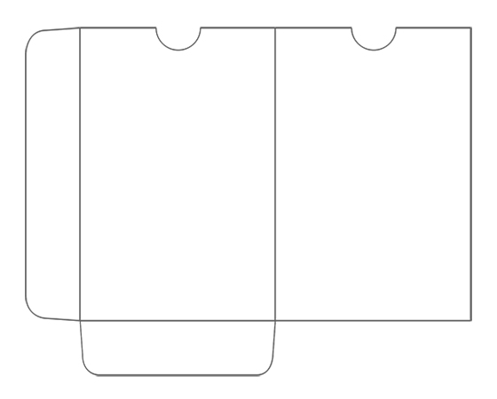 Template for printing CR80 Plastic Card Envelope