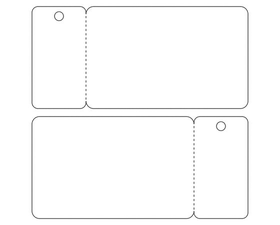Template for printing CR80 Plastic Card with one keytag