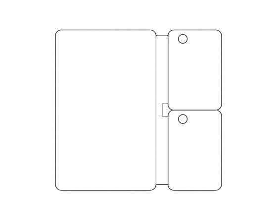 Template for printing CR80 Plastic Card with two keytags (V2)